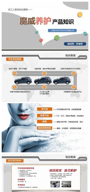 汽车养护用品产品介绍PPT模板