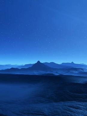 蓝色风景图片