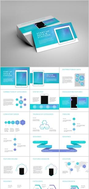 欧美团队简介产品发布公司介绍简约模板