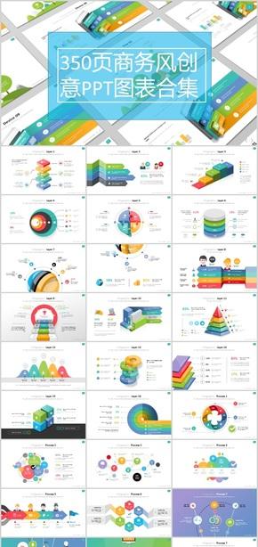 350页商务风创意PPT图表合集
