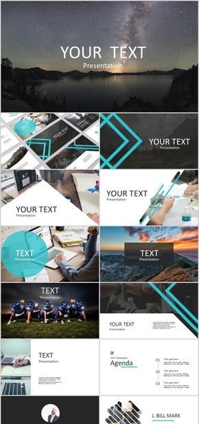 【典雅商务】135页欧美顶级公司团队介绍产品发布模板