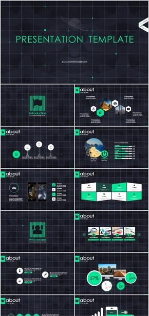 【简约艺术】欧美星空酷炫项目公司团队推广商务模板