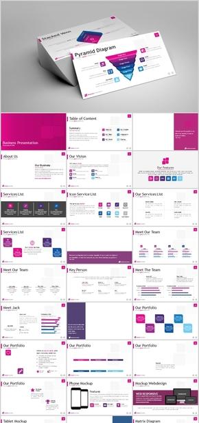 欧美企业简介产品发布团队介绍实用模板