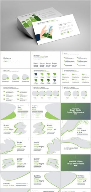 欧美商业计划公司团队介绍产品发布实用模板