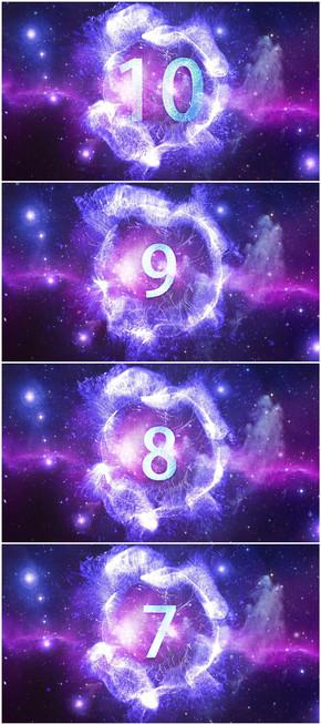 震撼宇宙星空年会开场冲击波10秒倒计时
