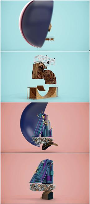 维机械创意5秒倒计时动画