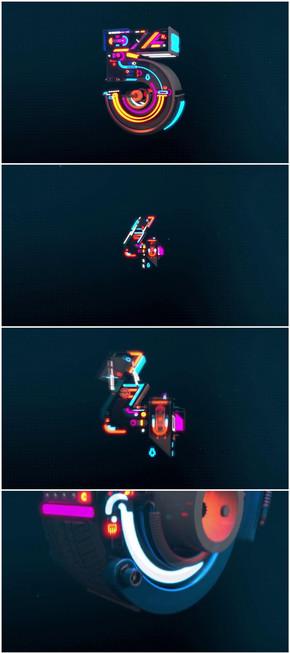 霸气3维机械卡通变形5秒倒计时