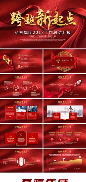 高端质感中国红绸缎年终工作总结商务报告企业公司集团年会颁奖新年计划述职汇报商务活动策划方案通用PPT