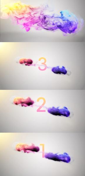 五彩烟雾汇聚消散10秒倒计时