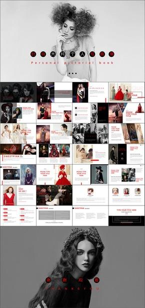 28【方古】欧美经典红黑色炫酷高端大气奢侈品牌广告宣传电子画册