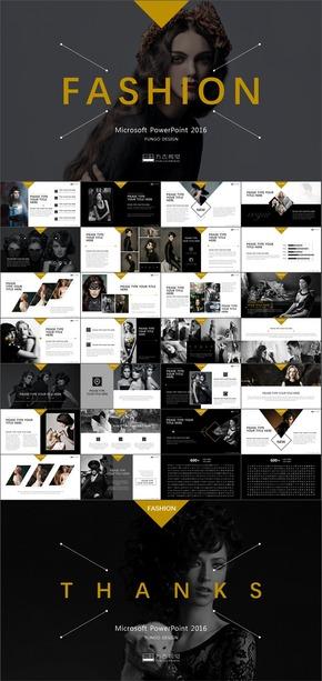26【方古】经典黑黄色时尚摄影影视广告作品视频电子相册
