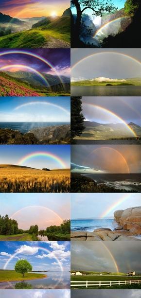 彩虹风景摄影图片