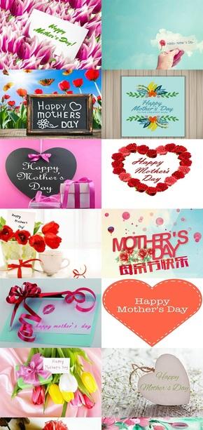 母亲节创意设计素材图片