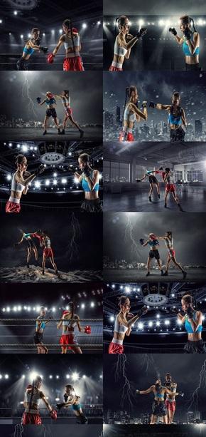 拳击运动背景图片