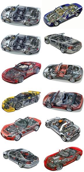 汽车内部模型图片