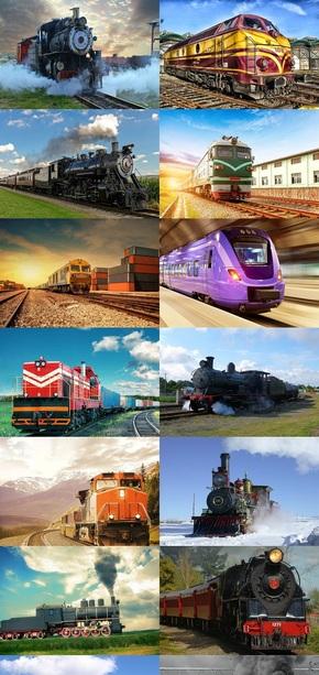 交通工具火车头图片
