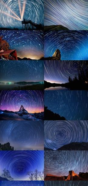 夜空星轨素材图片