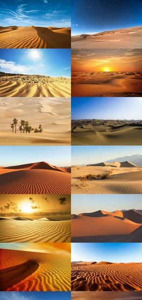 壮丽沙漠风景图片