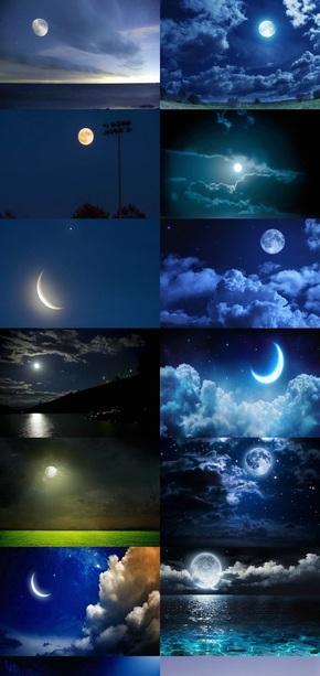 月亮素材背景图片