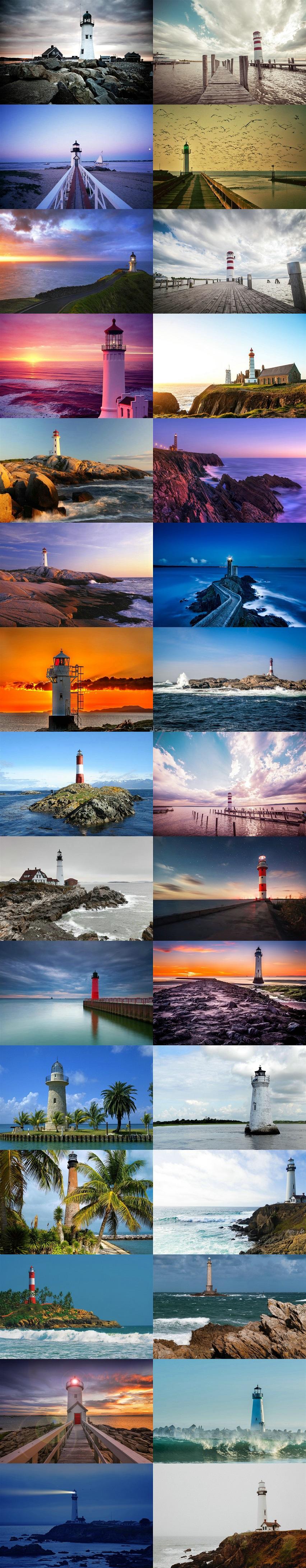 作品标题:沿海灯塔风景图片
