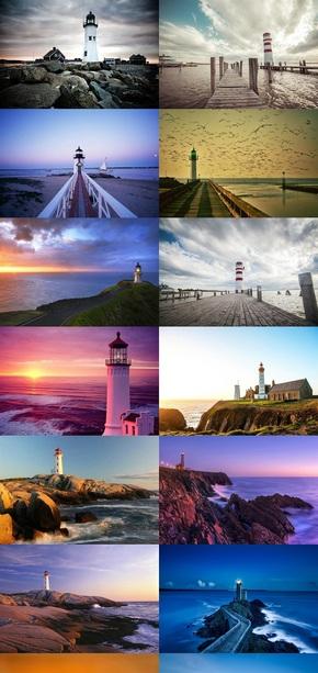 沿海灯塔风景图片