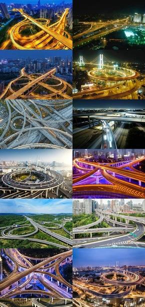 城市高架立交桥风景图片