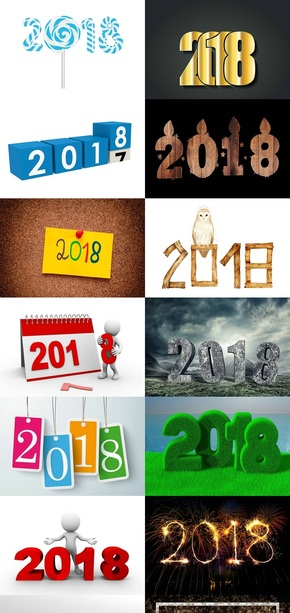 2018数字元素图片