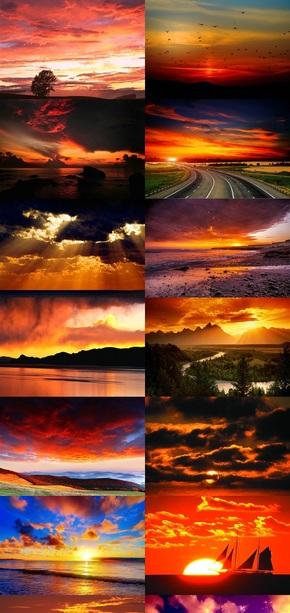 火烧云自然风景