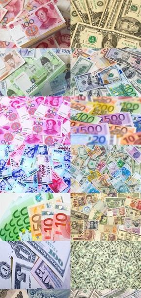 各种纸币素材图片