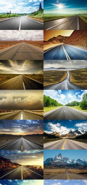 公路风景摄影图片