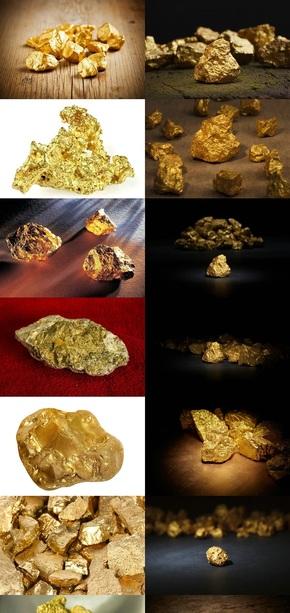 天然黄金矿石图片