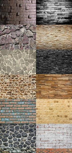 石墙砖墙背景图片