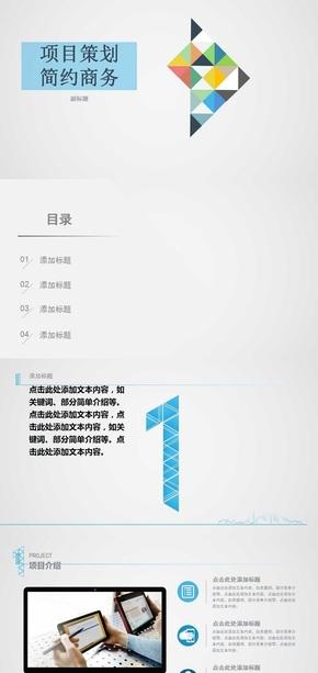 项目策划简约商务模版