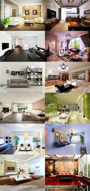 创意客厅家装精美素材效果图