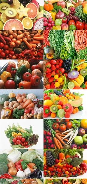 各种瓜果蔬菜摄影图片