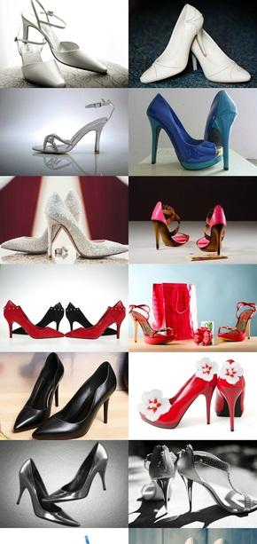 美丽时尚女士高跟鞋素材图片