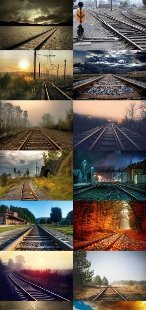 火车铁轨素材风景图片