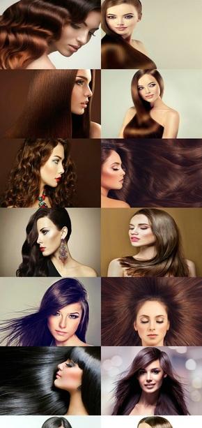 模特美女美发图片