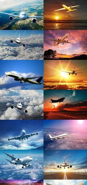 空中飞机图片壁纸