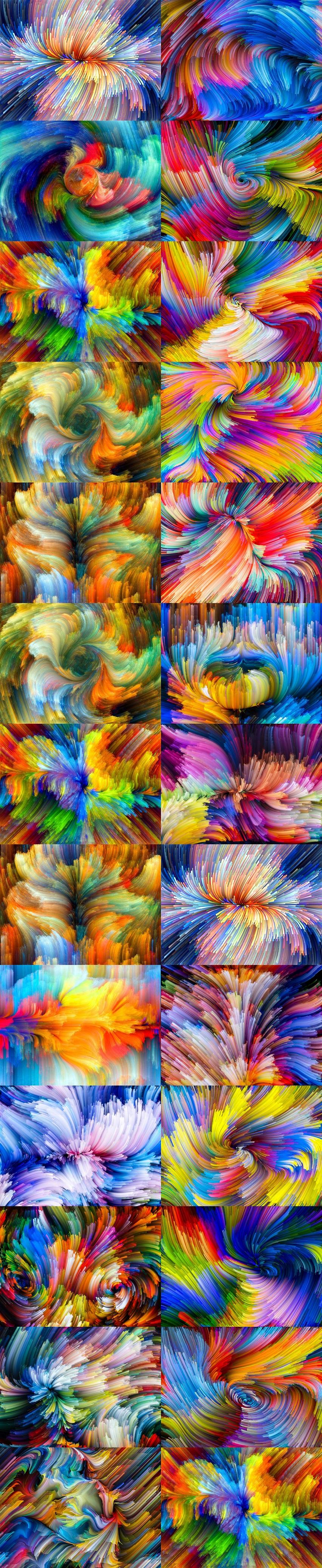 作品标题:多彩颜料梦幻创意背景图片