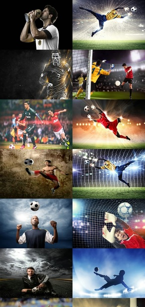 足球运动背景图片