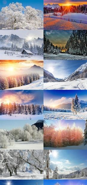 冬天户外雪景壁纸