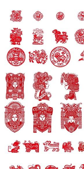 中国剪纸图标素材