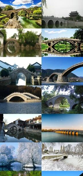 拱桥风景摄影图片