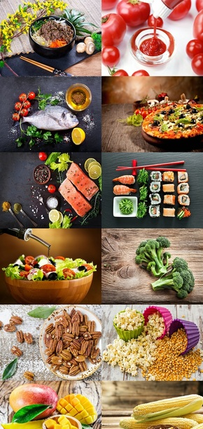 精美食物素材背景图片