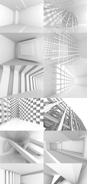 几何墙面背景素材图片