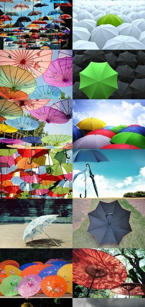 各种雨伞造型美图