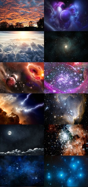 魔幻宇宙星空背景图片
