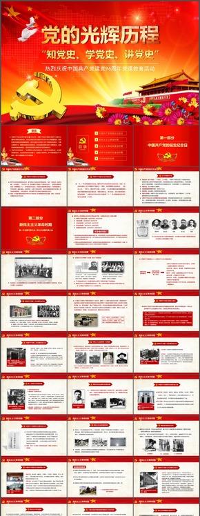 热烈庆祝中国共产党建党96周年党课教育活动党的光辉历程PPT课件