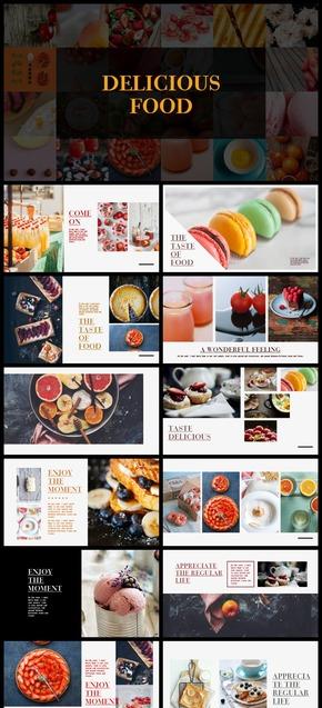 旅途中的美食PPT演示模板(旅游旅行食物)